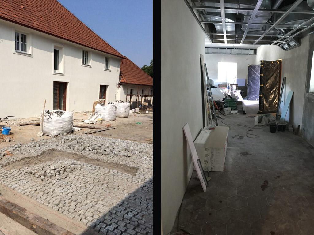 Stodola Herink - rekonstrukce nádvoří a prostor restaurace