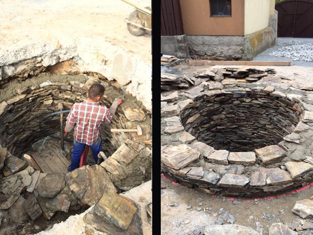 Stodola Herink rekonstrukce staré studny